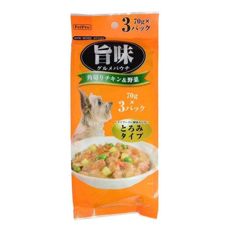 旨味グルメパウチ 角切チキン&野菜 70g×3P
