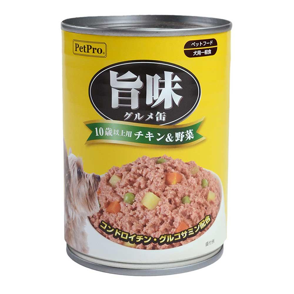 旨味グルメ缶 10歳以上用 チキン&野菜 375g
